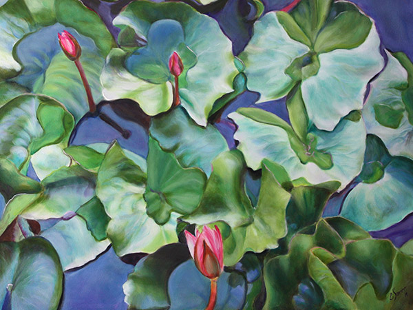 painting of water lilies