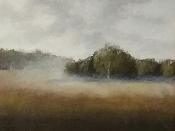 painting of misty landscape