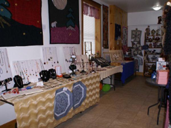 display of handmade jewellery