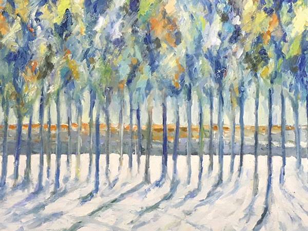 painting of trees in winter
