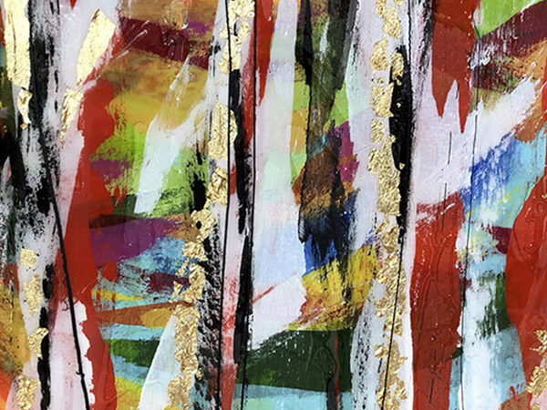 Bold colour abstract painting.