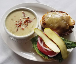Sandwich and soup from barrhead pub and grill.