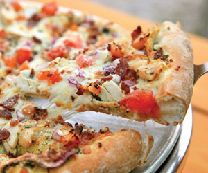 pizza from buoy's eatery