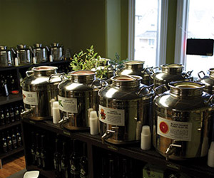 fustis containing fresh olive oils from collingwood olive oil