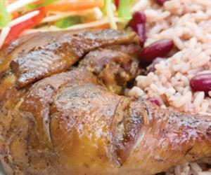 jerk chicken at Huron Island Time