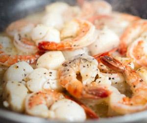shrimp at north 46 restaurant at manitoulin inn