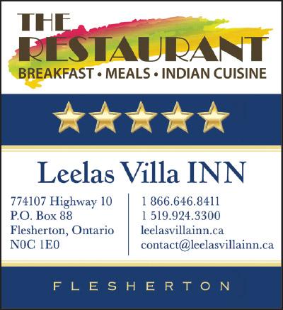 Leelas Villa Inn in Flesherton ad.