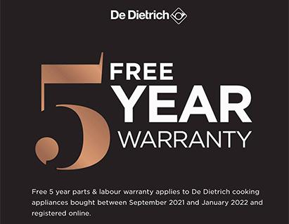 DeDietrich Free 5 Year Warranty Logo