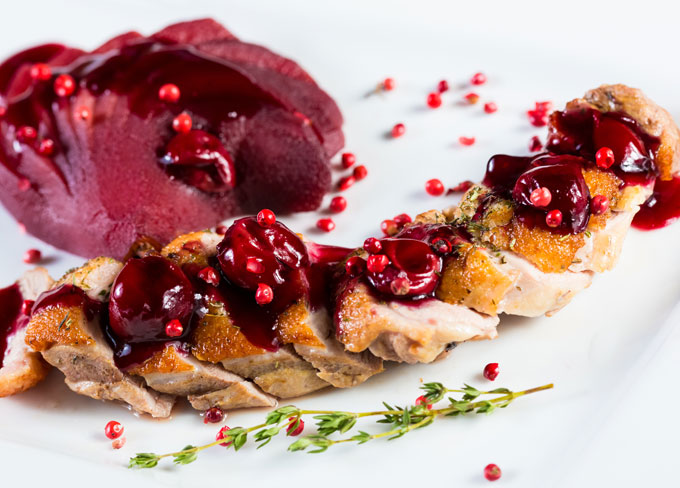 Duck Breasts with Redcurrant Sauce