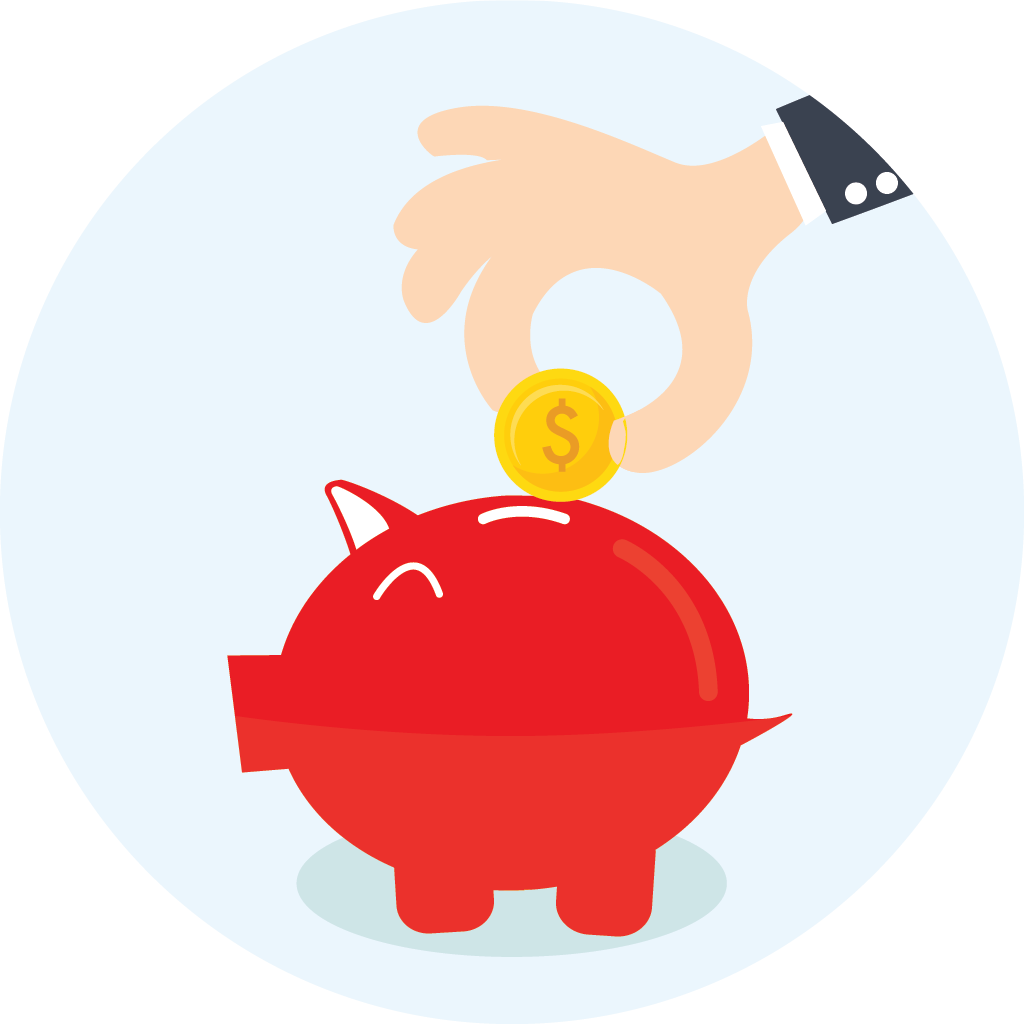 save with emergencey dental care plan piggy bank