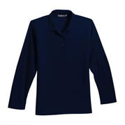 SLHS Ladies' Long Sleeve Silk Touch Pique Sportshirt