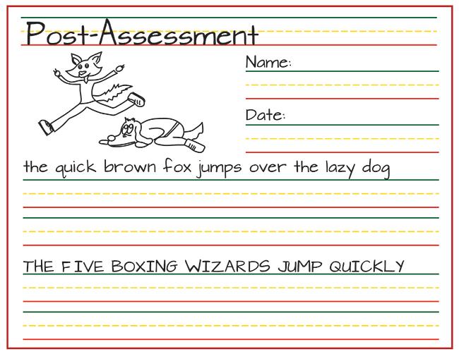 rhythm and writing post-assessment