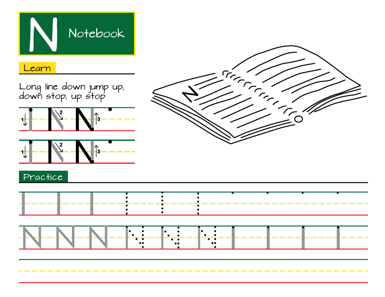rhythm and writing sample page
