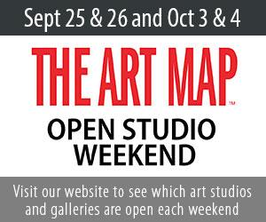 The Art Map open studio weekends.