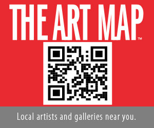 The Art Map QR code local artists and galleries
