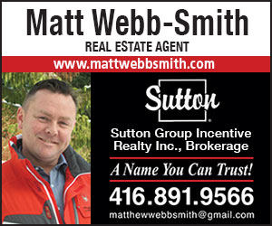 Matt Webb Smith  Sutton Group Incentive realty ad