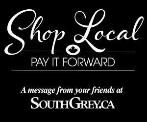 Shop local and pay it forward ad.