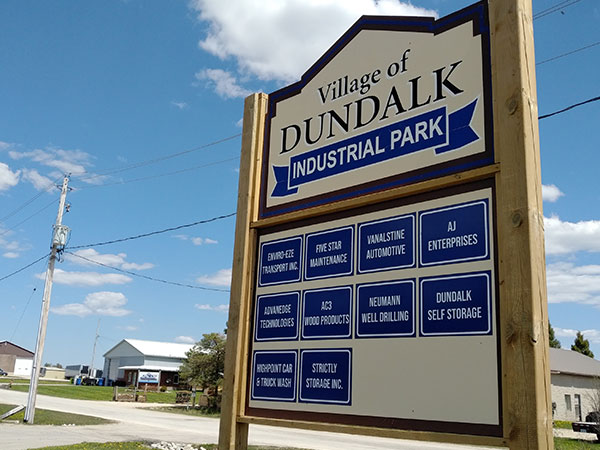 Dundalk industrial park sign.
