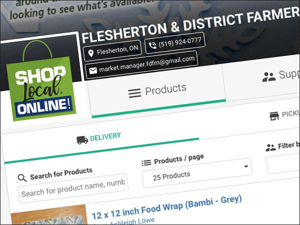 Flesherton Farmers' Market winter market website