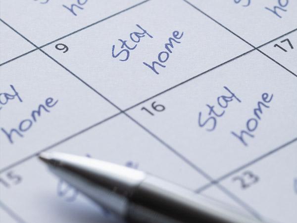stay home calendar.