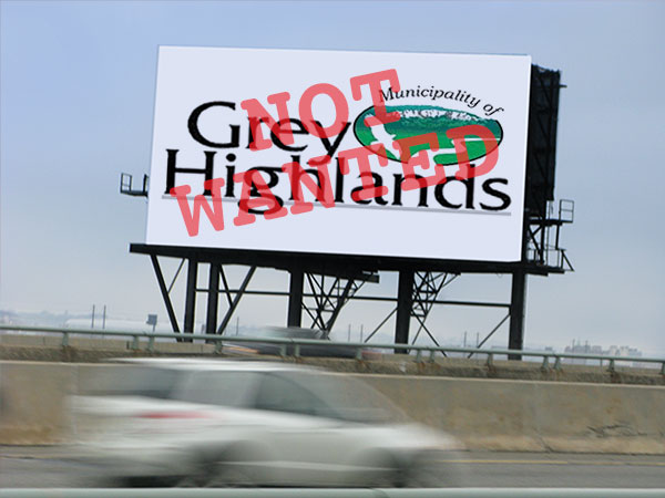 Grey Highlands not wanted sign