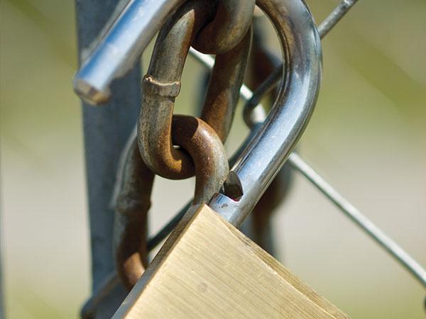 lock on fence