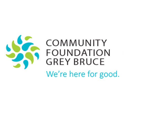 Community Foundation Grey Bruce logo with slogan We're here for good.
