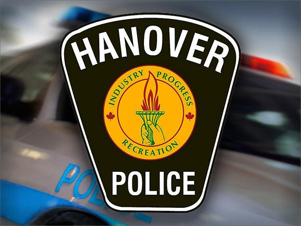 Hanover police logo and car
