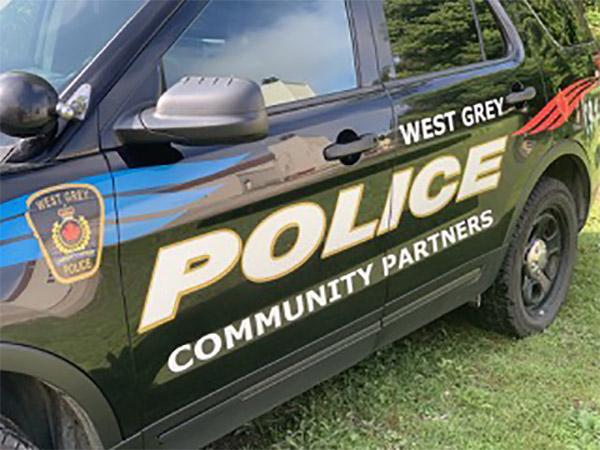 West Grey Police car