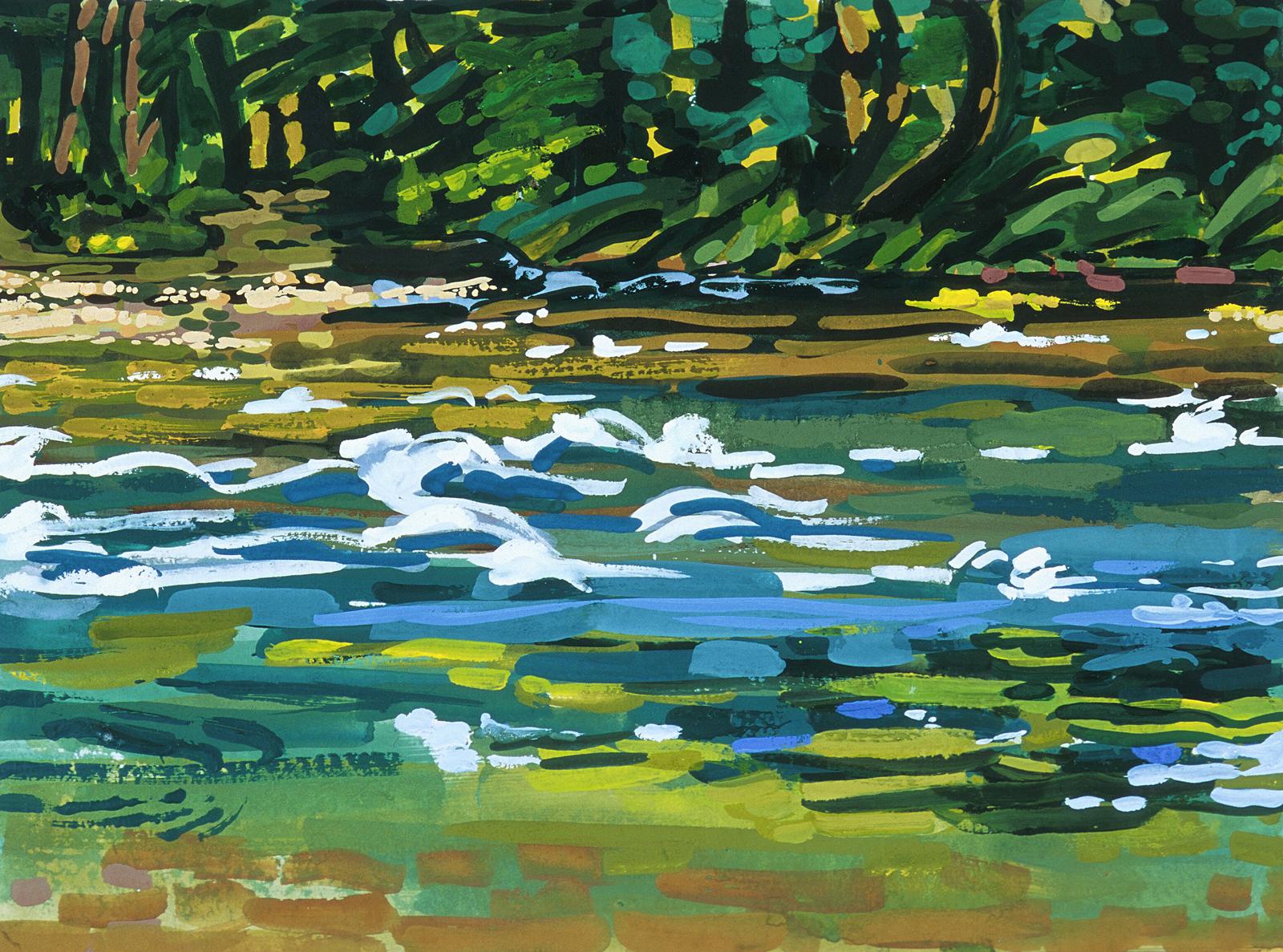 giclée   River People: Creek Entry