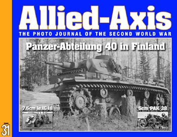 ALLIED AXIS 31 PANZER-ABTEILUNG 40 IN FINLAND 7.5 CM 1E.IG 18 INFANTRY GUN 5CM PAK 38