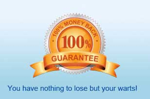 100% Guarantee - You have nothing to lose but your warts!