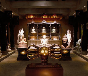 A view looking into our Buddha Room
