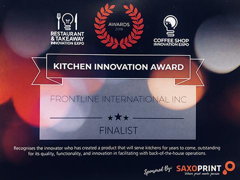 Frontline International a Finalist for Restaurant & Takeaway Kitchen Innovation Award 2018
