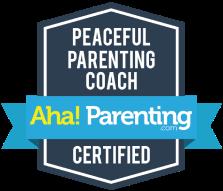 Peaceful Parenting Coach - Aha! Parenting Certified Badge