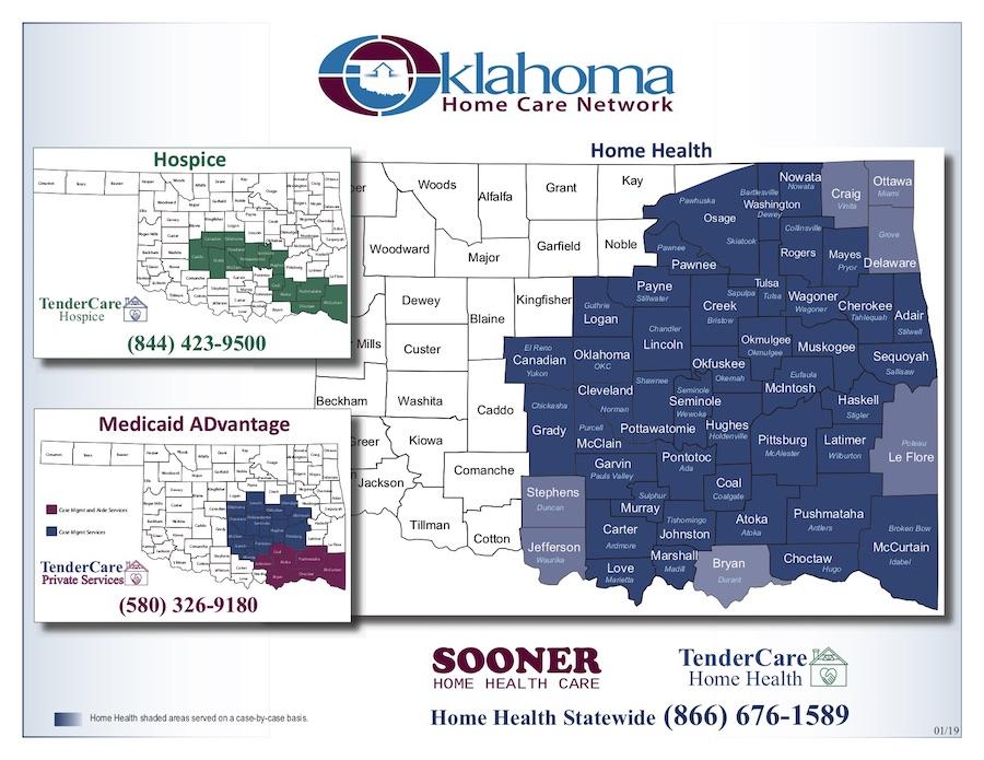 Oklahoma Home Care Network Maps
