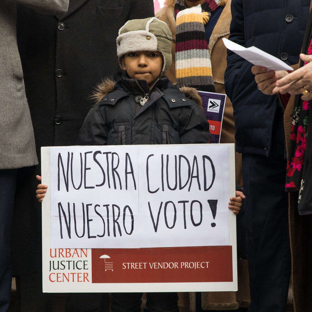 No taxation without representation' — noncitizens rally for NYC voting rights
