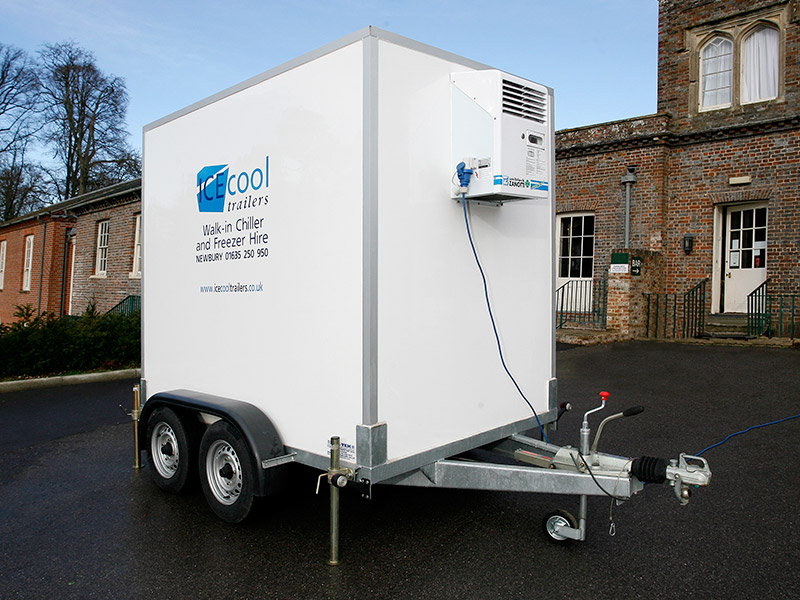 Emergency cold room, fridge and freezer trailer hire