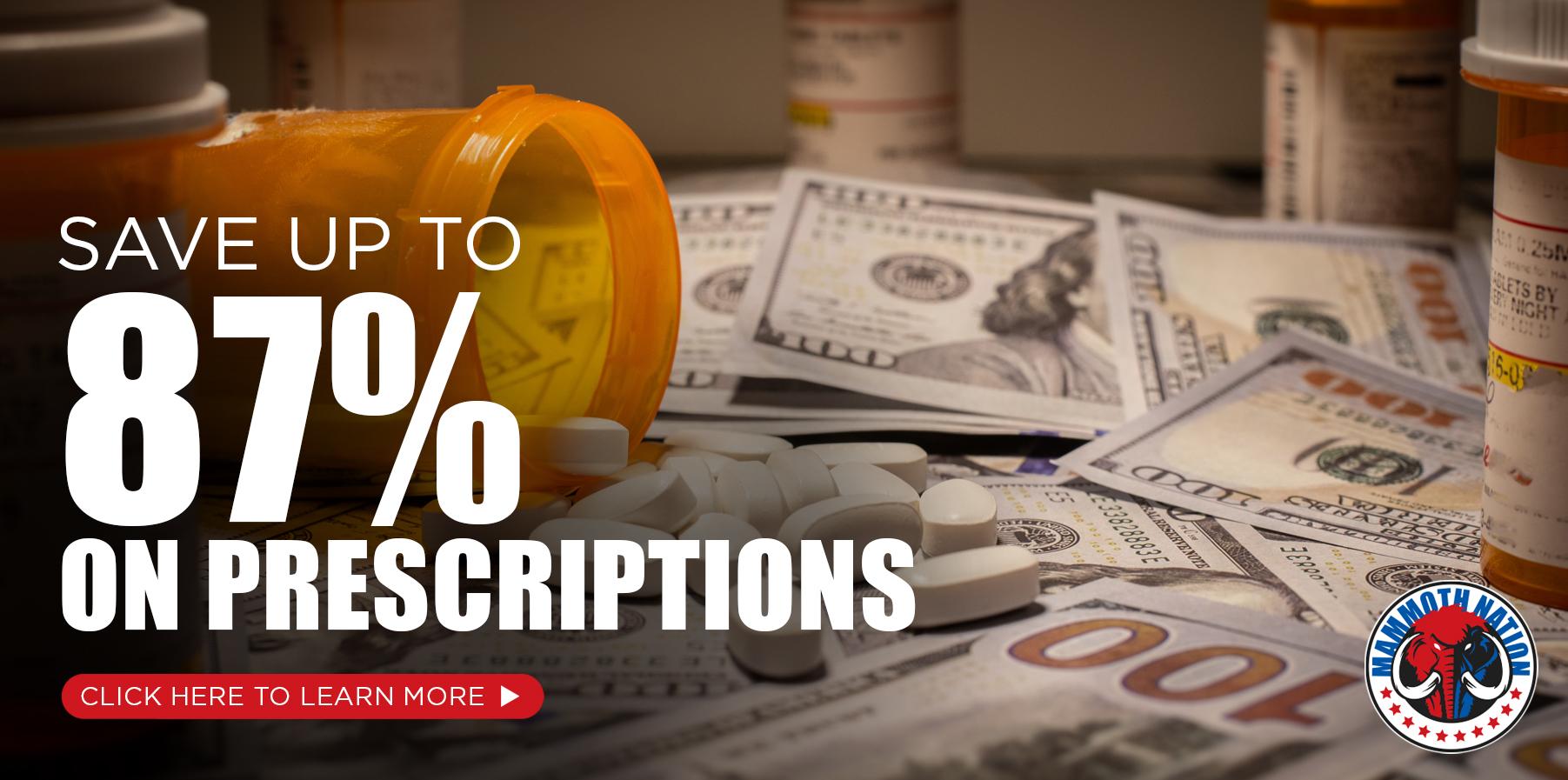 87% off Prescriptions