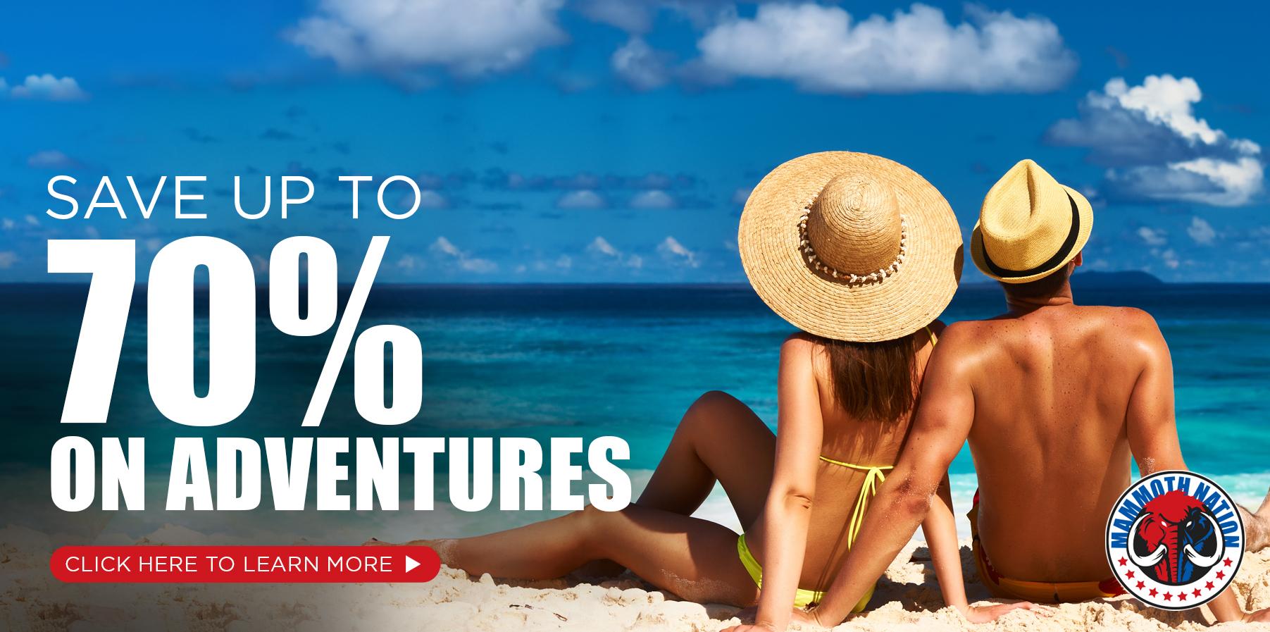 70% off adventures