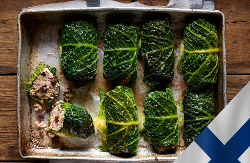 Finnish Cabbage Rolls (Kaalikääryleet)