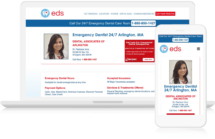 EDS website displayed on multiple devices to show its responsiveness